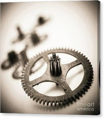Gear Wheels. Canvas Print by Bernard Jaubert