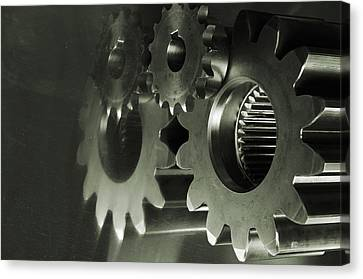 Gears And Cogwheels Canvas Print by Christian Lagereek