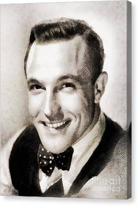 Gene Kelly, Vintage Hollywood Legend Canvas Print by John Springfield