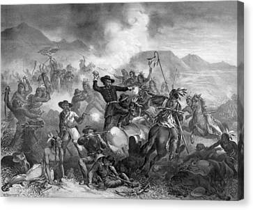 General Custer's Death Struggle Canvas Print by War Is Hell Store