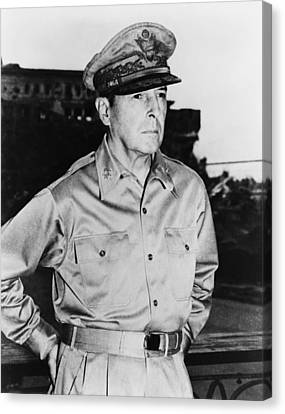 War Is Hell Store Canvas Print - General Macarthur by War Is Hell Store