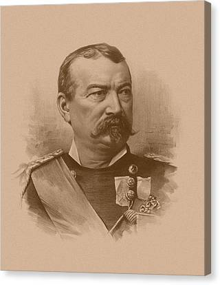 Canvas Print featuring the drawing General Philip Sheridan by War Is Hell Store