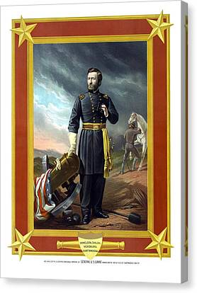 War Is Hell Store Canvas Print - General Us Grant by War Is Hell Store