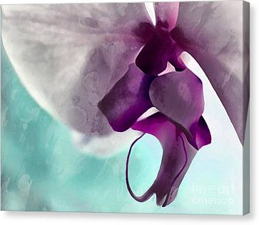 Digital Paint Flower Canvas Print - Gentle Beginnings by Krissy Katsimbras