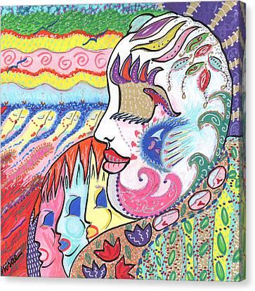 Gentle Smile Canvas Print by Sharon Nishihara