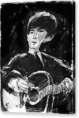 Guitarist George Harrison Canvas Print - George by Russell Pierce
