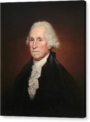 George Washington Canvas Print by Rembrandt Peale