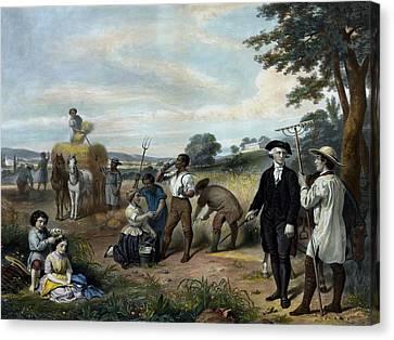George Washington - The Farmer Canvas Print