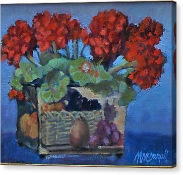 Geraniums Canvas Print by Michael McDougall