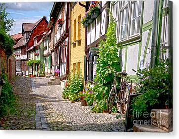 Koehrer-wagner_heiko Canvas Print - German Old Village Quedlinburg by Heiko Koehrer-Wagner