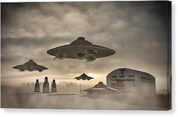 German Wwii Ufo By Raphael Terra Canvas Print by Raphael Terra