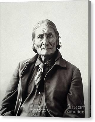 Geronimo (1829-1909) Canvas Print by Granger