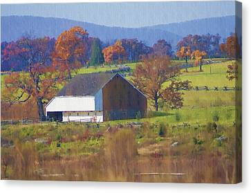Gettysburg Barn Canvas Print by Bill Cannon