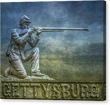 Gettysburg Battlefield Canvas Print by Randy Steele