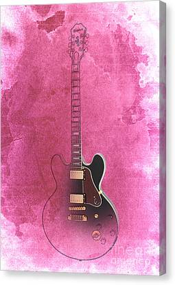 Gibson Lucille Guitar Canvas Print by Pablo Franchi
