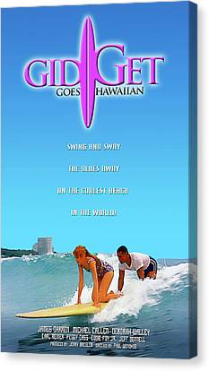 Gidget Goes Hawaiian Canvas Print by Ron Regalado