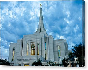 Gilbert Arizona Lds Temple Canvas Print by Nick Boren