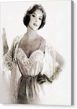 Gina Lollobrigida, Vintage Hollywood Actress Canvas Print by John Springfield
