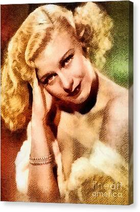 Ginger Rogers, Vintage Hollywood Legend Canvas Print by John Springfield