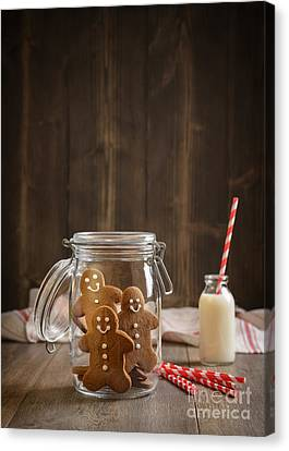 Glass Bottle Canvas Print - Gingerbread Jar by Amanda Elwell