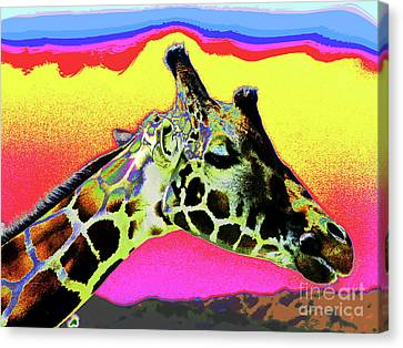 Giraffe Fun Canvas Print