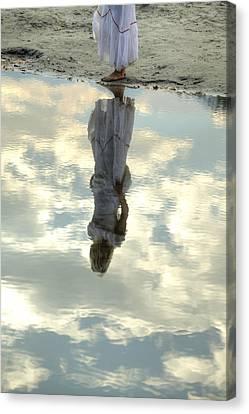 Girl And The Sky Canvas Print by Joana Kruse