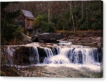 Grist Mill Canvas Print - Glade Creek Grist Mill by Chris Flees