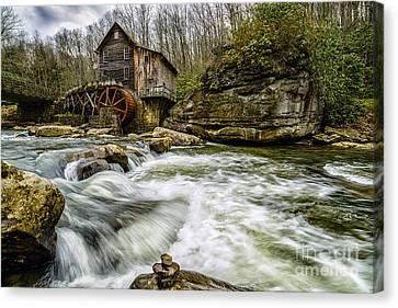 Grist Mill Canvas Print - Glade Creek Grist Mill by Thomas R Fletcher