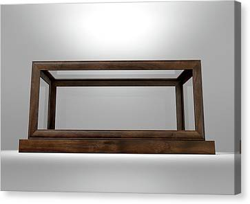 Glass Display Case Frame Horizontal Canvas Print by Allan Swart