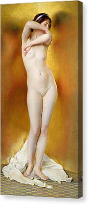 Glow Of Gold Gleam Of Pearl Canvas Print by William McGregor Paxton
