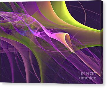 Go With The Flow Canvas Print by Addie Hocynec