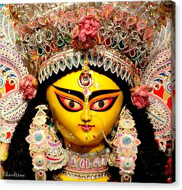 Goddess Durga Canvas Print by Chandrima Dhar