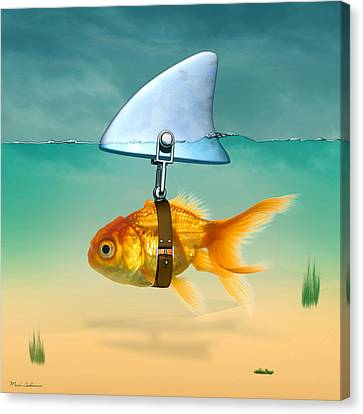 Shower Canvas Print - Gold Fish  by Mark Ashkenazi