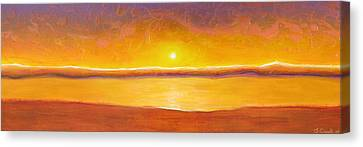 Gold Sunset Canvas Print by Jaison Cianelli