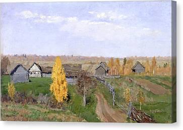 Golden Autumn - Slovakia Canvas Print by Isaac Levitan