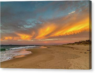 Golden Clouds Canvas Print