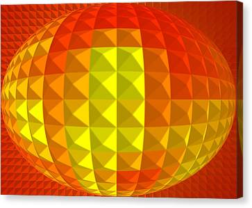 Golden Ellipse Canvas Print by Ramon Labusch
