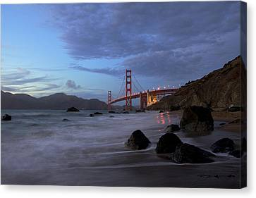 Canvas Print featuring the photograph Golden Gate Bridge by Evgeny Vasenev
