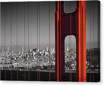 Golden Gate Bridge Panoramic Canvas Print by Melanie Viola