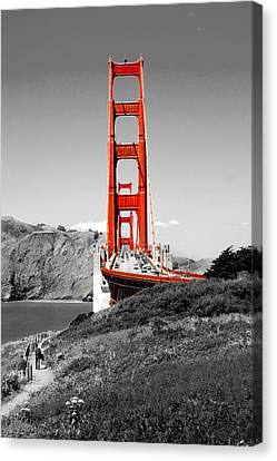 Red Skies Canvas Print - Golden Gate by Greg Fortier