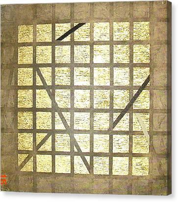 Golden Gridwork Canvas Print