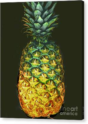 Canvas Print featuring the photograph Golden Pineapple by Merton Allen