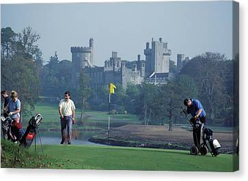 Golf At Dromoland Castle Canvas Print by Carl Purcell