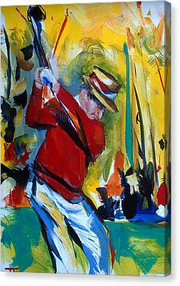 Golf Red Canvas Print