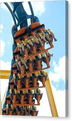 Goliath Rollercoaster Canvas Print by Roy Williams