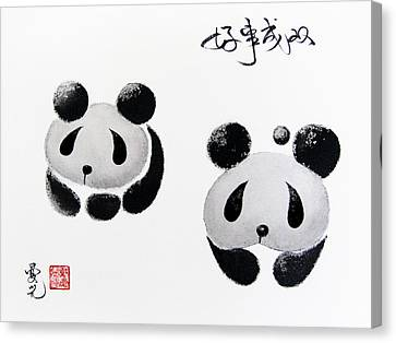 Good Things Come In Pairs Canvas Print by Oiyee At Oystudio