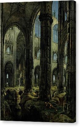 Gothic Church Ruins Canvas Print by Carl Blechen