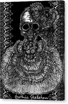 Gothic Skeleton Canvas Print by Akiko Okabe
