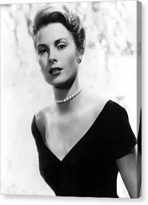 Pearl Necklace Canvas Print - Grace Kelly by American School