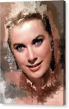 Grace Kelly, Vintage Hollywood Actress Canvas Print by Mary Bassett